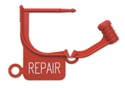 "Picture of Standard Colour Locking Tags Red - With Text, ""REPAIR"", 100/Pkt"