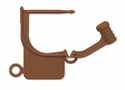 Picture of Special Colour Locking Tags Brown - Plain, 100/Pkt