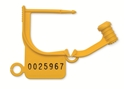 Picture of Numbered Locking Tags Uniquely Numbered - Yellow, 100/Pkt