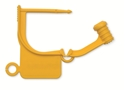 Picture of Standard Colour Locking Tags Yellow - Plain, 100/Pkt