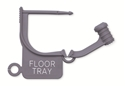 """Picture of Special Colour Locking Tags Gray - With Text, """"FLOOR TRAY"""", 100/Pkt"""