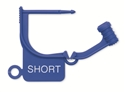 "Picture of Standard Colour Locking Tags Blue - With Text, ""SHORT"", 100/Pkt"