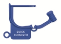 "Picture of Standard Colour Locking Tags Blue - With Text, ""QUICK TURNOVER"", 100/Pkt"
