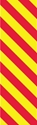 """Picture of Identification Sheet Tape - Diagonal Stripe Yellow/Red, 1/4"""" x 374"""""""