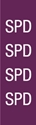 """Picture of Identification Sheet Tape - Patterned Plum/SPD, White, 1/4"""" x 374"""""""