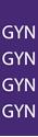 "Picture of Identification Sheet Tape - Patterned Purple/GYN, White, 1/4"" x 374"""
