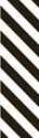 "Picture of Identification Sheet Tape - Diagonal Stripe White/Black, 1/4"" x 374"""
