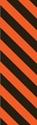 "Picture of Identification Sheet Tape - Diagonal Stripe Black/Flo Orange, 1/4"" x 374"""