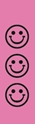 "Picture of Identification Sheet Tape - Patterned Pink/Black Smiley Faces, 1/4"" x 374"""