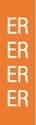 "Picture of Identification Sheet Tape - Patterned Orange/ER, White, 1/4"" x 374"""