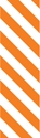 "Picture of Identification Sheet Tape - Diagonal Stripe White/Orange, 1/4"" x 374"""