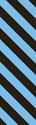 "Picture of Identification Sheet Tape - Diagonal Stripe Black/Light Blue, 1/4"" x 374"""