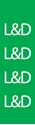"Picture of Identification Sheet Tape - Patterned Green/L&D, White, 1/4"" x 374"""