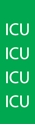 "Picture of Identification Sheet Tape - Patterned Green/ICU, White, 1/4"" x 374"""