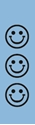 "Picture of Identification Sheet Tape - Patterned Light Blue/Black Smiley Faces, 1/4"" x 374"""