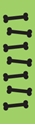 "Picture of Identification Sheet Tape - Patterned Lime Green/Black Bones, 1/4"" x 374"""