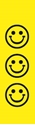 "Picture of Identification Sheet Tape - Patterned Yellow/Black Smiley Faces, 1/4"" x 374"""