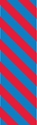 """Picture of Identification Sheet Tape - Diagonal Stripe Blue/Red, 1/4"""" x 374"""""""