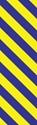 "Picture of Identification Sheet Tape - Diagonal Stripe Yellow/Puple, 1/4"" x 374"""