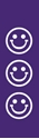 "Picture of Identification Sheet Tape - Patterned Purple/White Smiley Faces, 1/4"" x 374"""