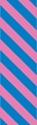 "Picture of Identification Sheet Tape - Diagonal Stripe Blue/Pink, 1/4"" x 374"""
