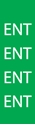 """Picture of Identification Sheet Tape - Patterned Green/ENT, White, 1/4"""" x 374"""""""