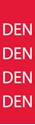"""Picture of Identification Sheet Tape - Patterned Red/DEN, White, 1/4"""" x 374"""""""