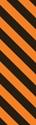 "Picture of Identification Sheet Tape - Diagonal Stripe Black/Orange, 1/4"" x 374"""