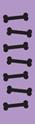"Picture of Identification Sheet Tape - Patterned Lavender/Black Bones, 1/4"" x 374"""