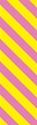 "Picture of Identification Sheet Tape - Diagonal Stripe Yellow/Pink, 1/4"" x 374"""