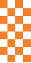 "Picture of Identification Sheet Tape - Checkerboard White & Orange, 1/4"" x 374"""