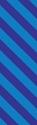 "Picture of Identification Sheet Tape - Diagonal Stripe Blue/Purple, 1/4"" x 374"""