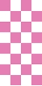 "Picture of Identification Sheet Tape - Checkerboard White & Pink, 1/4"" x 374"""