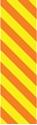 "Picture of Identification Sheet Tape - Diagonal Stripe Yellow/Orange, 1/4"" x 374"""