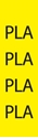 """Picture of Identification Sheet Tape - Patterned Yellow/PLA, Black, 1/4"""" x 374"""""""