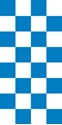 "Picture of Identification Sheet Tape - Checkerboard White & Blue, 1/4"" x 374"""