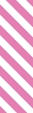 "Picture of Identification Sheet Tape - Diagonal Stripe White/Pink, 1/4"" x 374"""