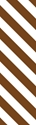 "Picture of Identification Sheet Tape - Diagonal Stripe White/Brown, 1/4"" x 374"""