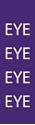 "Picture of Identification Sheet Tape - Patterned Purple/EYE, White, 1/4"" x 374"""