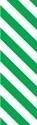 "Picture of Identification Sheet Tape - Diagonal Stripe White/Green, 1/4"" x 374"""