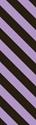 "Picture of Identification Sheet Tape - Diagonal Stripe Black/Lavender, 1/4"" x 374"""