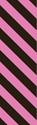 "Picture of Identification Sheet Tape - Diagonal Stripe Black/Pink, 1/4"" x 374"""