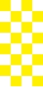 "Picture of Identification Sheet Tape - Checkerboard White & Yellow, 1/4"" x 374"""