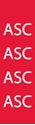 """Picture of Identification Sheet Tape - Patterned Red/ASC, White, 1/4"""" x 374"""""""