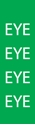 """Picture of Identification Sheet Tape - Patterned Green/EYE, White, 1/4"""" x 374"""""""