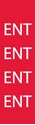 """Picture of Identification Sheet Tape - Patterned Red/ENT, White, 1/4"""" x 374"""""""