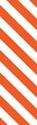 """Picture of Identification Sheet Tape - Diagonal Stripe White/Flo Orange, 1/4"""" x 374"""""""