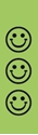 "Picture of Identification Sheet Tape - Patterned Lime Green/Black Smiley Faces, 1/4"" x 374"""