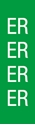 "Picture of Identification Sheet Tape - Patterned Green/ER, White, 1/4"" x 374"""