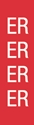 """Picture of Identification Sheet Tape - Patterned Red/ER, White, 1/4"""" x 374"""""""
